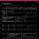 (7.8.) month of sundays